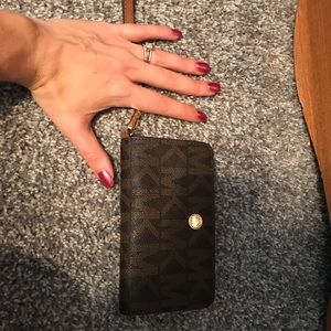 Michael Kors wallet with cell phone holder